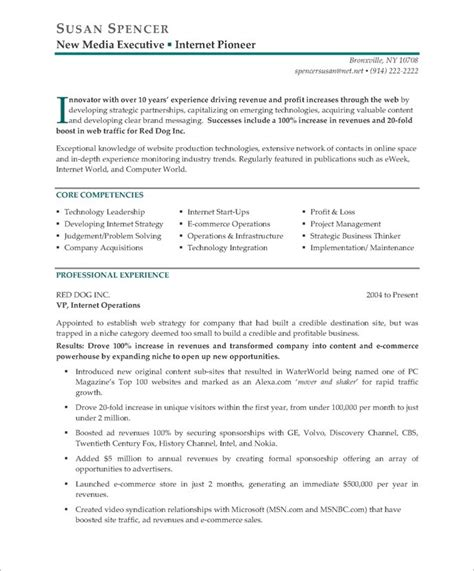 Resume Exle With Publications Executive Resume Makeover Digital Media Executive Blue Sky Resumes