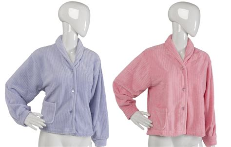 bed coat fleece bed jacket nightwear bed jackets slenderella burn