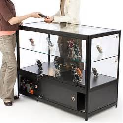 Retail Display Cabinet For Sale 48 X 38 X 23 3 4 Inch Free Standing Tempered Glass