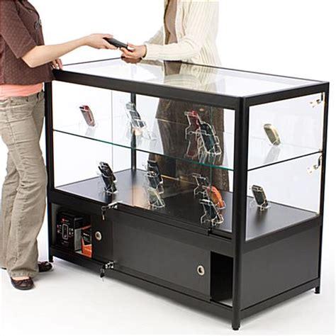 merchandise display case black merchandising display cases for sale halogen side