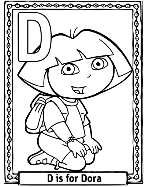 Dora Cartoon Coloring Pages | dora and abuela coloring pages
