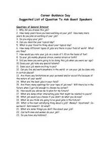 questions to ask guest guest speakers career day