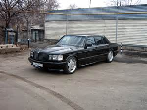 Mercedes 500sel Mercedes W126 500sel Black On Amg Monoblocks Benztuning