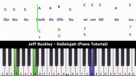 keyboard tutorial hallelujah jeff buckley hallelujah piano tutorial youtube