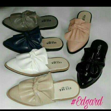 Flat Shoes Pita Putih sepatu pita ruby rubby selop bustong tutong flat original