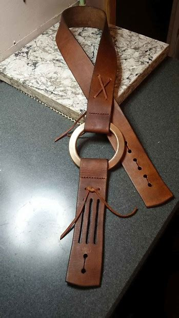 Handmade Guitar Straps Leather - handmade leather guitar duane allman replica reverb