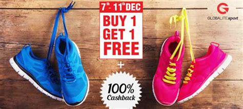 buy one get one free shoes globalite coupon buy 1 get 1 free shoes at rs 799 100
