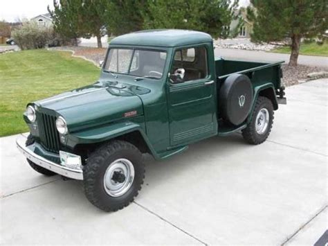 willys jeep truck green willys trucks restored 1948 green willys overland for