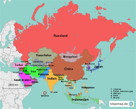 asien map weltkarte asien world map