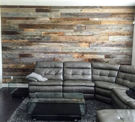 reclaimed wood divider wood walls home design