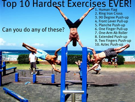 top 10 hardest exercises exercise
