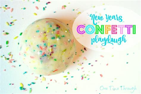 new year playdough activities make colourful new years confetti playdough one time through