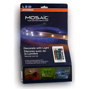 sylvania led light strips sylvania mosaic color changing led lights 4 pk bj