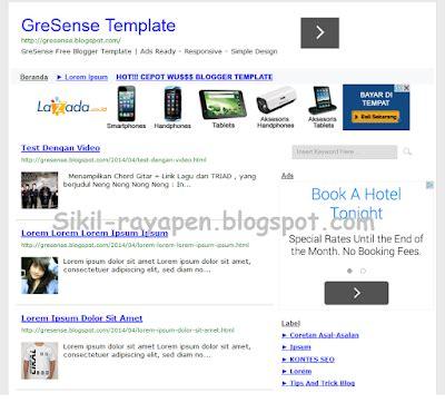 video tutorial blogger lengkap panduan setting gresense blogger template sikil rayapen