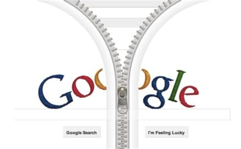 google design for today unzip google with interactive zipper doodle who s gideon