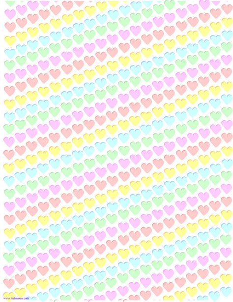 Printable Craft Paper - rainbow hearts clip background craft paper printable