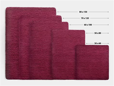 Bathroom Rug Sizes by Bath Mat Rug Berry 6 Sizes Available