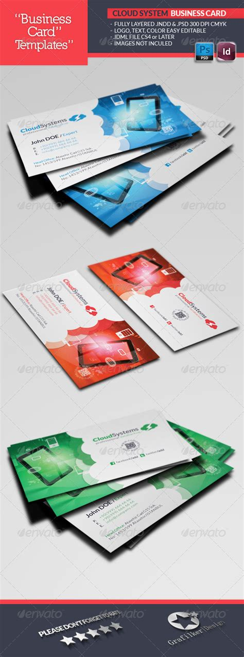 cloud business card template cloud systems business card template by grafilker