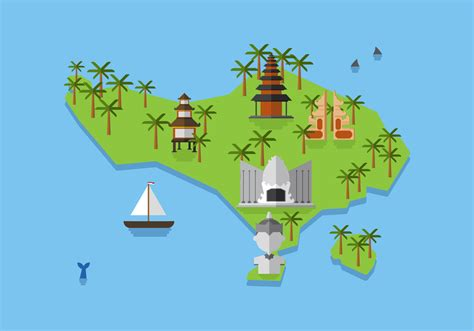 indonesia map vector vector bali map free vector stock graphics