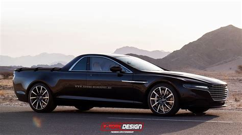 Aston Martin Lagonda Rendered As Pickup Truck