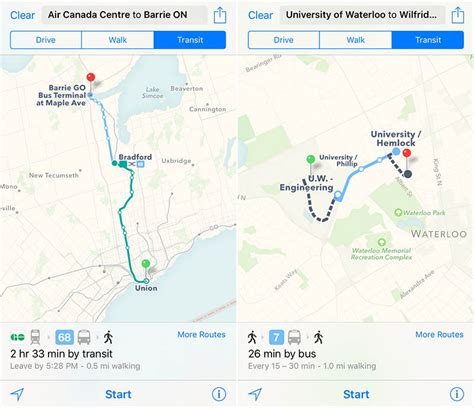 apple maps apple maps transit directions work across much of greater