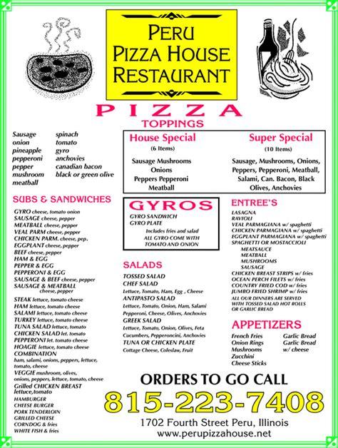 peru pizza house peru pizza house restaurant peru il 61354 3323 yellowbook