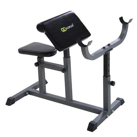 curling bench adjustable commercial preacher arm curl weight bench seat