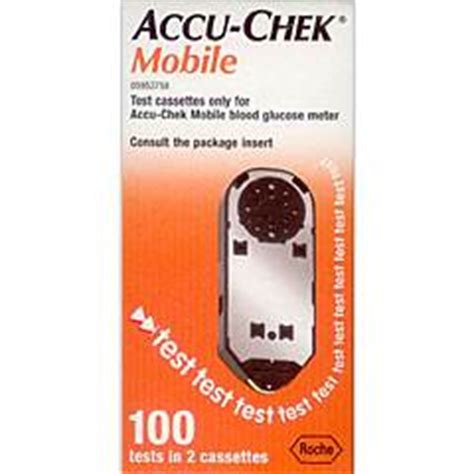 accu chek mobile test cassette 100 strips accu chek mobile diabetes test cassettes 2x50 tests