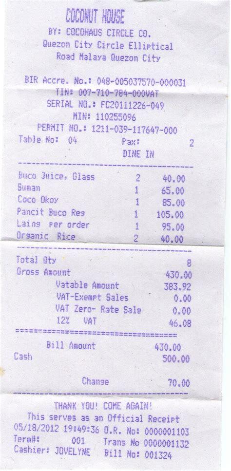 sample official receipt template commercial business receipt