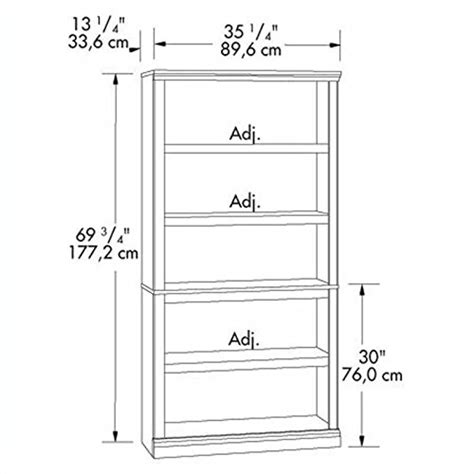 replacement shelves for bookcase sauder 5 shelf bookcase oak finish furniture