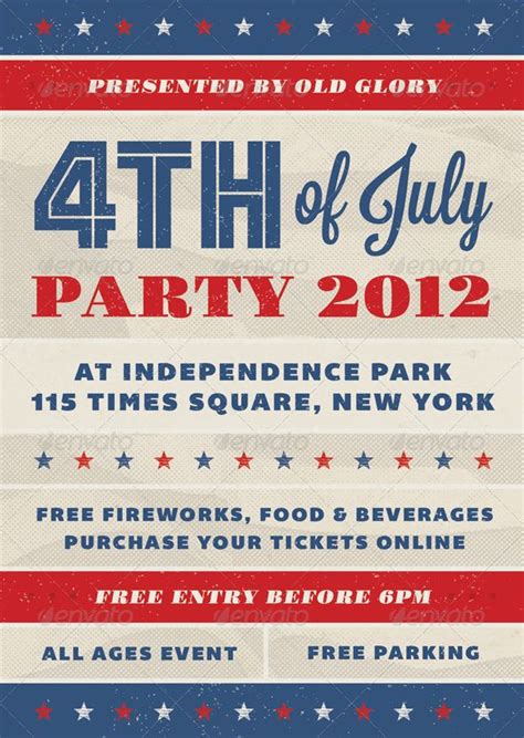 4th of july templates fourth of july event flyer flyer design
