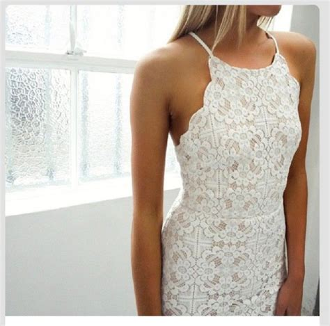White Flower Crochet Dress white dress lace dress dress lace crochet white lace