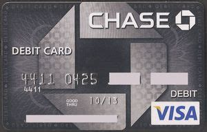 Chase Visa Debit Gift Card - tarjeta de banco chase debit visa chase estados unidos col us vi 0111