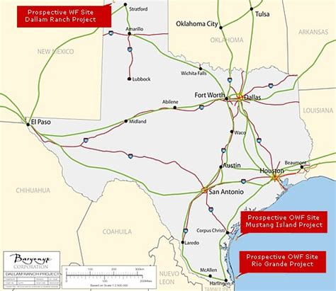 texas wind farm map baryonyx to build largest offshore wind farms in the us power data centers