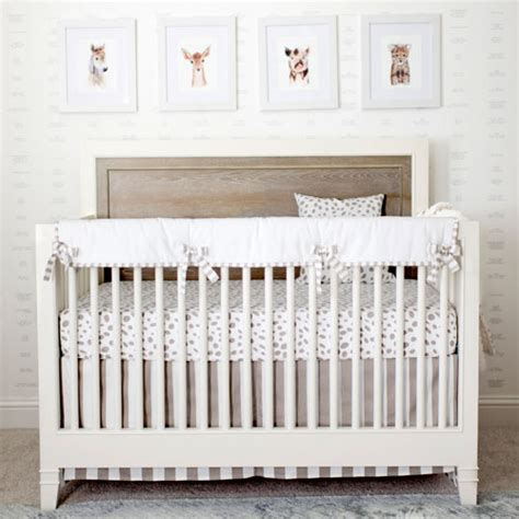 Unisex Baby Crib Bedding Sets Neutral Crib Rail Cover Set Unisex Crib Bedding White Baby Bedding