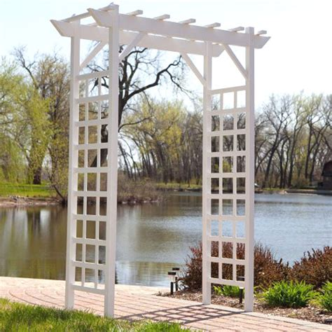 Patio Arbor Images Gate Garden Pergola Arbor Trellis Vines Pvc Vinyl Patio