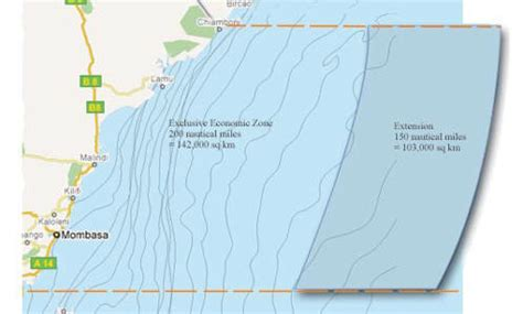 Continental Shelf Of India by Kenya To Acquire 150 Nautical Of Indian In New