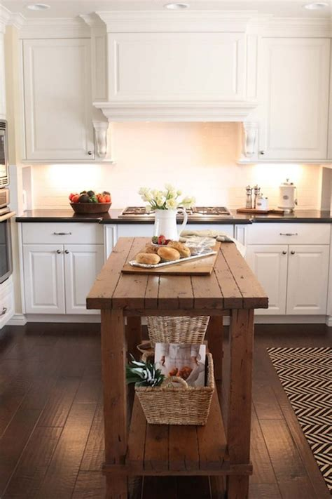 reclaimed wood island transitional kitchen the