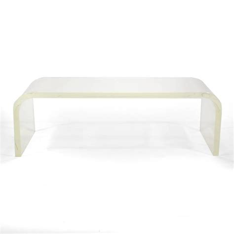 Lucite Waterfall Coffee Table 1970s Lucite Waterfall Coffee Table For Sale At 1stdibs