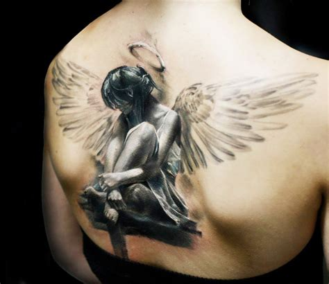 realistic angel tattoo designs realistic by iwan yug no 13694