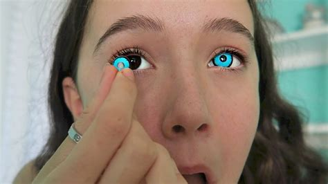 creepy colored contacts i try 4 creepy creative color contact lenses see the