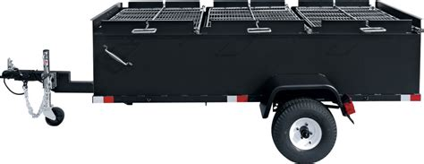 chicken bbq pit trailer bbq96 chicken cooker trailer large towable charcoal grills