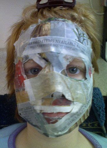How To Make A Mask Without Paper Mache - and wacky design papering the cracks