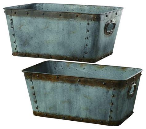 galvanized home decor crestview cvtra248 galvanized metal tubs s 20 quot h l 22 quot h