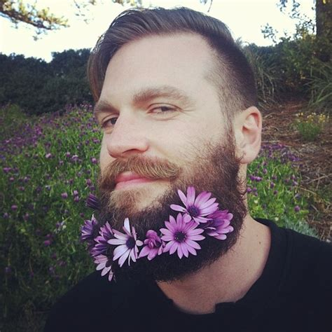 flowers in their men with beards funny photos of men who have adorned their beards with