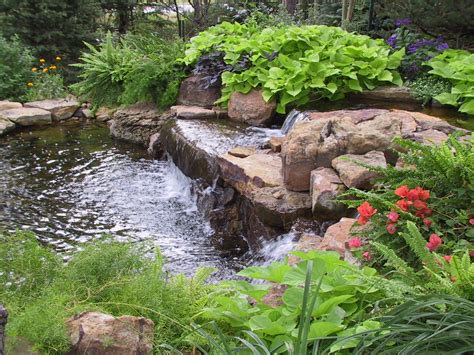 landscaping around a small pond water features for your landscape koi pond pinterest