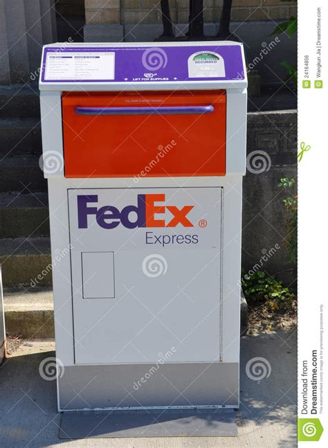 Fedex Post Office by Fedex Express Mail Box Editorial Photo Image 24164856