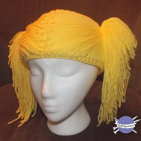 crochet hair look hat patterns pin by linda huff on crochet wigs hats with hair pinterest