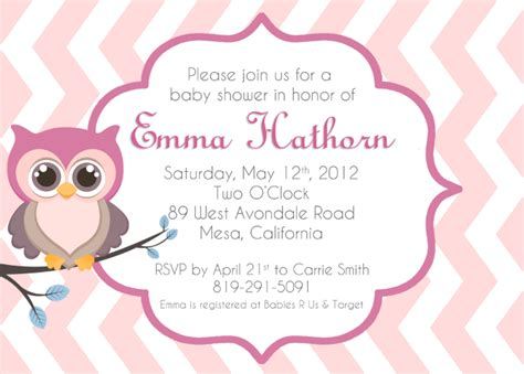 owl invitation template baby owl invitations clipart clipart suggest