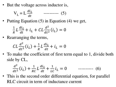 inductor circuit differential equation differential equation of inductor 28 images 5 application of odes series rl circuit rl